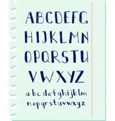pen alphabet vector image vector image
