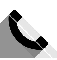 phone sign black icon with vector image vector image