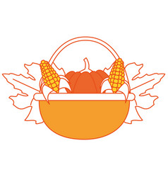 pumpkin and corns design vector image vector image