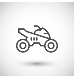 Quad bike line icon vector