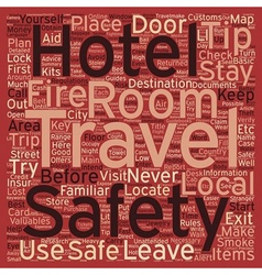 Safety tips for travelers text background vector