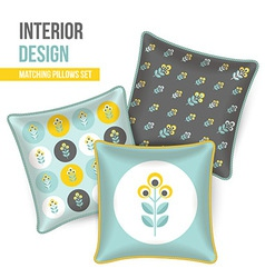 Set of decorative pillow vector image