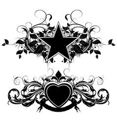 set of ornamental elements vector image vector image