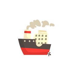 Ship with steam vector