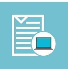 Social media laptop document vector