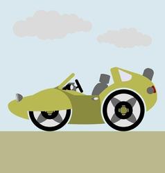 sport cabriolet car vector image