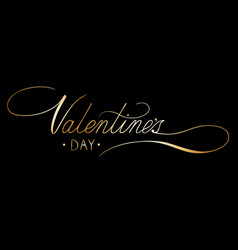 valentines day card with handwritten calligraphy vector image vector image