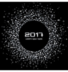 White confetti circle new year 2017 background vector