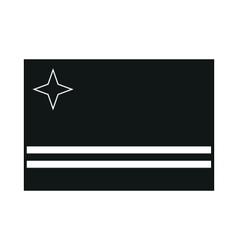Flag of aruba on white background vector