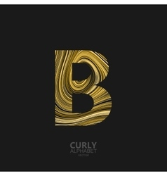 Curly textured letter b vector
