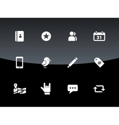 Social icons on black background vector
