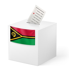 Ballot box with voting paper Vanuatu vector image