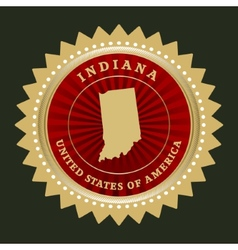 Star label Indiana vector image