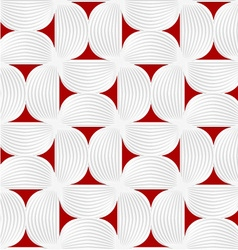3d white striped semi circles with red vector