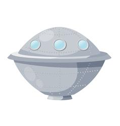 Fantastic spacecraft ufo cartoon vector