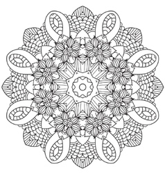 Mandala ethnic decorative elements hand drawn vector