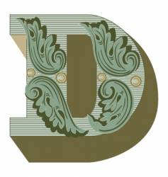 Western letter d vector