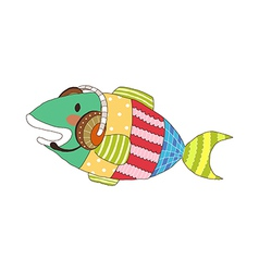 A view of fish vector image vector image