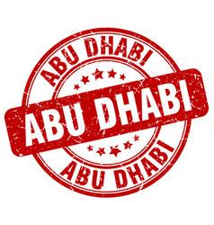 Abu dhabi red grunge round vintage rubber stamp vector