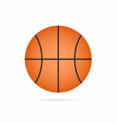 basketball ball icon with shadow isolated on vector image vector image
