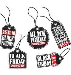Black friday tag set vector