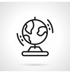 Black simple line globe icon vector image