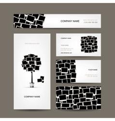 Business cards design photo frames vector