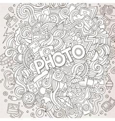 Cartoon cute doodles hand drawn Photo vector image vector image