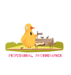Chicken paparazzi costume composition vector
