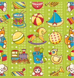 Child toy seamless pattern design element vector