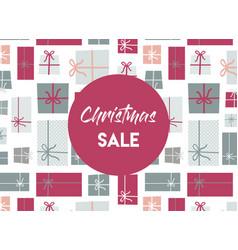 christmas sale christmas present background vector image