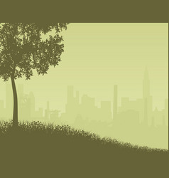 city edge vector image vector image