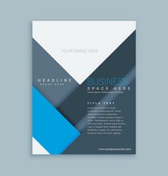 Company brochure template in minimal shapes vector