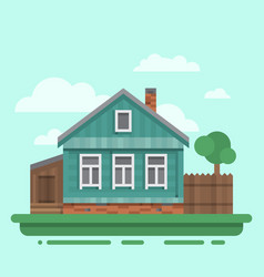 Country old brawn house vector
