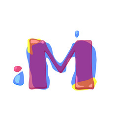 dots letter m logo m letter design with vector image vector image