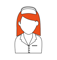 Female nurse icon image vector