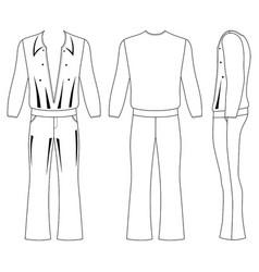 flare man pants and long sleeve t-shirt vector image vector image