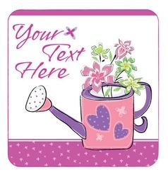 floral garden card vector image