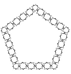 frame i from decorative elements of black color vector image