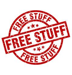 Free stuff round red grunge stamp vector
