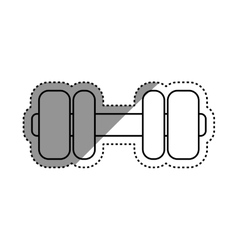 Gym weigth dumbbell vector image