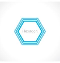 hexagon vector image vector image
