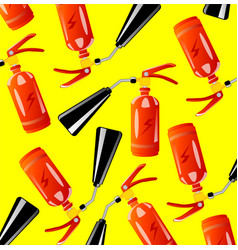 instrument of the firefighter fire-extinguisher vector image