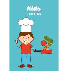 kids cooking design vector image