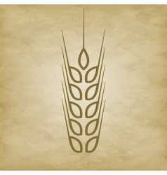 Logo wheat icon vector