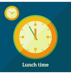 Lunch time vector image