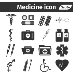 Medical and health care icons vector image vector image