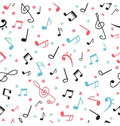 Music notes abstract seamless pattern Hand drawn vector image