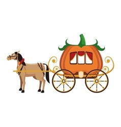Old carriage icon vector