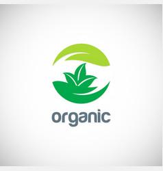 organic ecology logo vector image